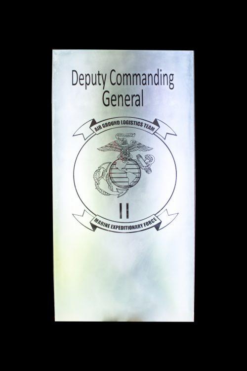 Deputing Commanding General Door insert
