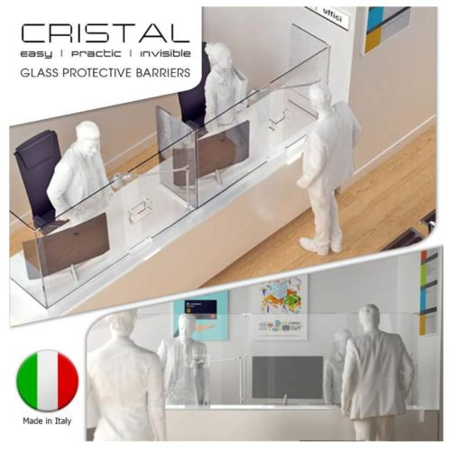 Cristal glass protective barriers. Easy, practic, invisible. Made in Italy.